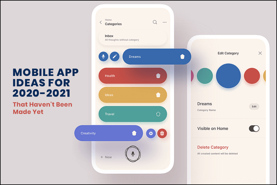 Mobile App Ideas For 2020-2021 That Haven't Been Made Yet