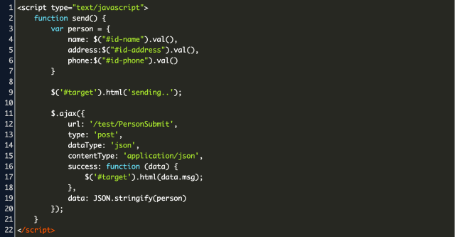jquery $.post json Code Example