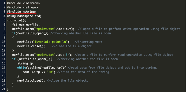 retrieve a whole line from a text file c++ Code Example