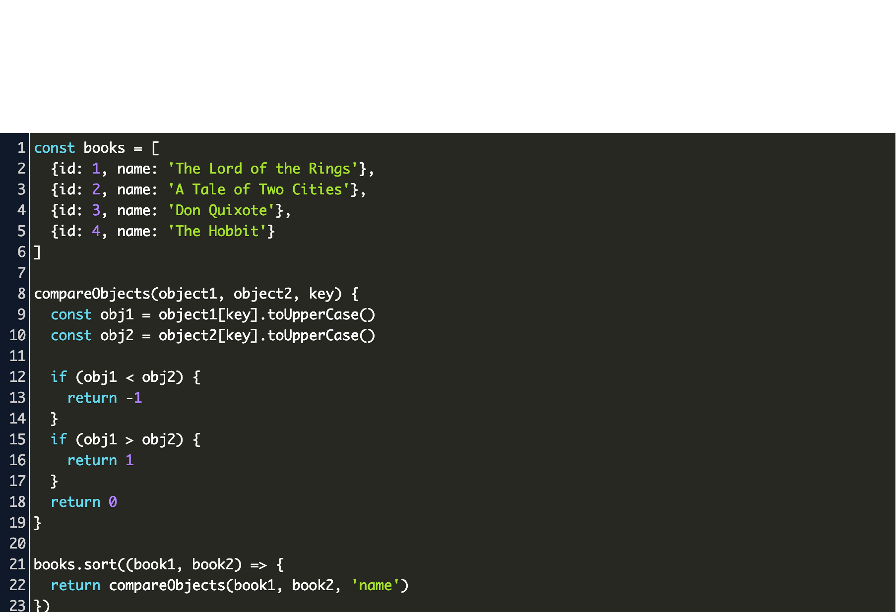 Sort Array Of Objects Function With Localecompare Code