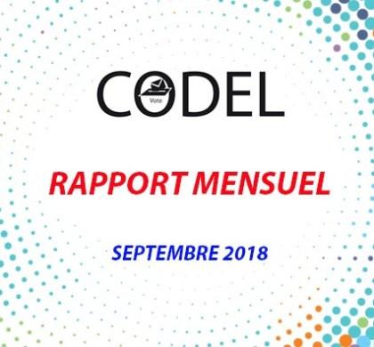 RAPPORT MENSUEL-septembre 2018