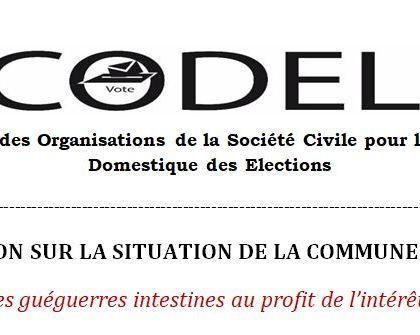 Déclaration sur la situation de la commune de Gourcy