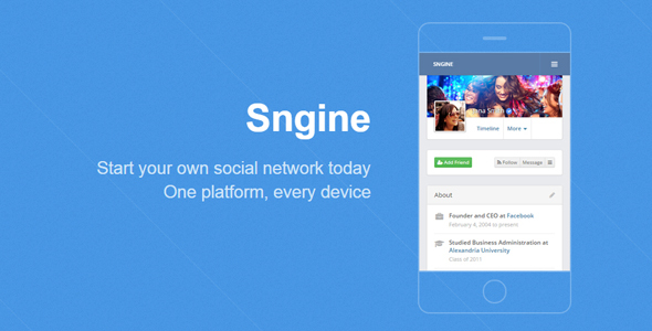 Sngine v2.5.5 - The Ultimate PHP Social Network Platform - nulled