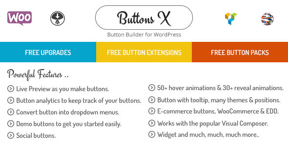 Buttons X v1.9.64 - Powerful Button Builder for WordPress