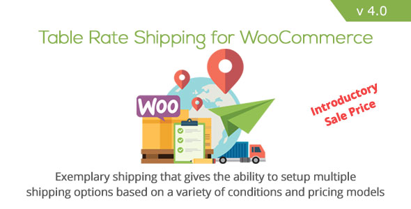 Table Rate Shipping for WooCommerce v4.0