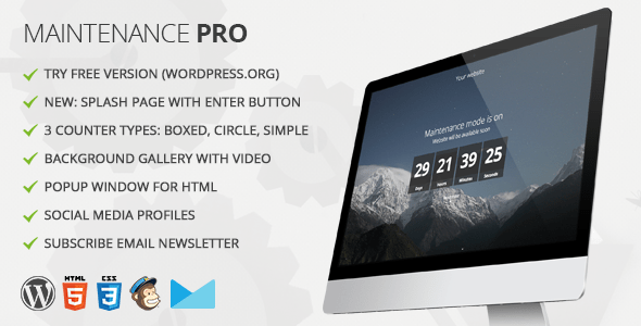 Maintenance PRO v3.4 - WordPress plugin