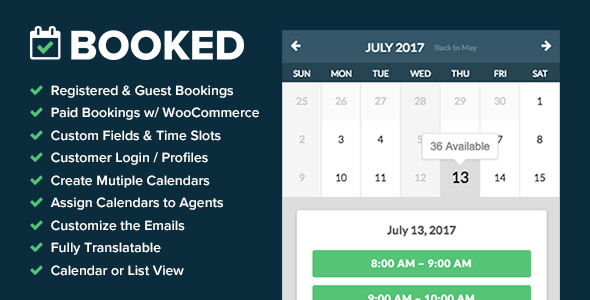Booked v2.0.6 - Appointment Booking for WordPress