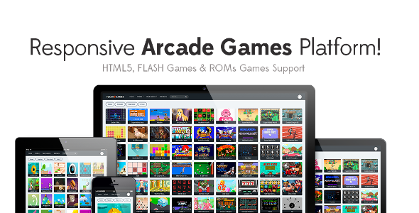 Responsive HTML5, Flash Games & ROMs Games Platform - Arcade Game Script v1.2.2