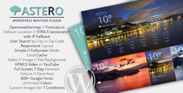 Astero WordPress Weather Plugin v1.4.2
