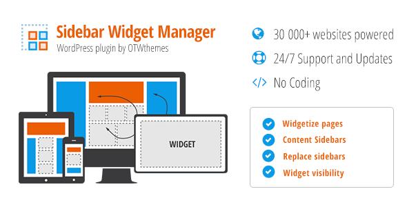 Sidebar & Widget Manager v3.25