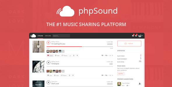 phpSound v4.5.0 – Music Sharing Platform