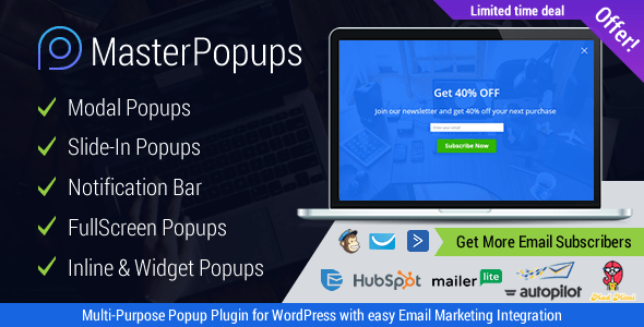 Master Popups v2.0.0 - Popup Plugin for Lead Generation