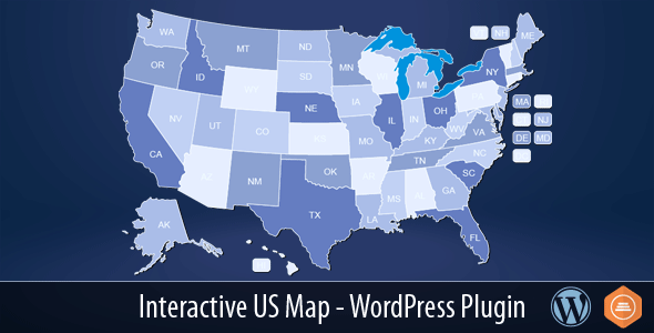 Interactive US Map v2.2.4 - WordPress Plugin