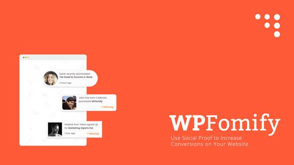 WPfomify WordPress Plugin v2.1.1 + Addons