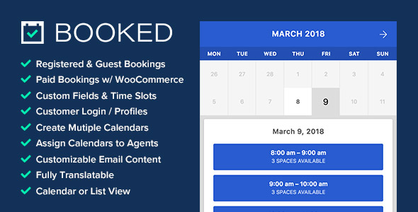 Booked v2.2.1 – Appointment Booking for WordPress