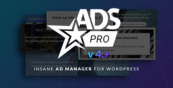 Ads Pro Plugin v4.3.1 - Multi-Purpose Advertising Manager