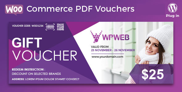 WooCommerce PDF Vouchers v3.6.7 – WordPress Plugin