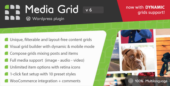 Media Grid v6.302 - WordPress Responsive Portfolio