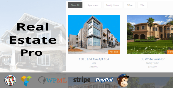 Real Estate Pro v1.4.2 – WordPress Plugin