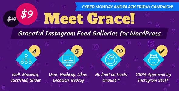 Instagram Feed Gallery - Grace for WordPress v1.1.3