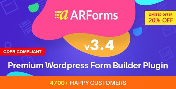 ARForms v3.4 - WordPress Form Builder Plugin
