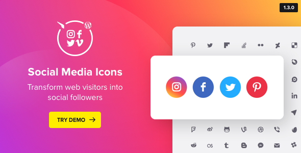 WordPress Social Media Icons v1.7.0 - Social Icons Plugin