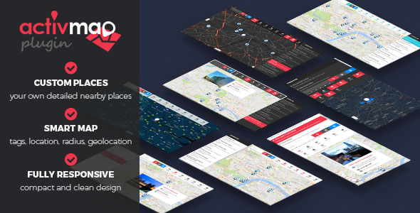 Activ'Map Nearby Places v2.0.0 - Responsive POI Gmaps