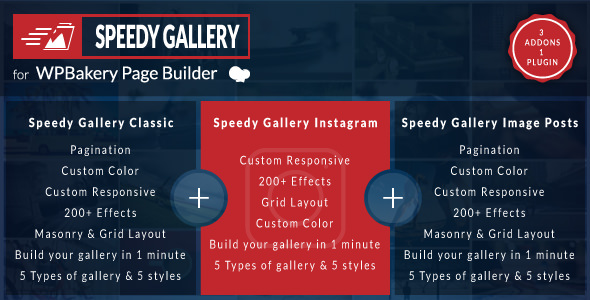 Speedy Gallery Addons for WPBakery Page Builder v1.0.0