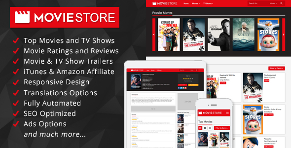 MovieStore v1.1 - Movies and TV Shows Affiliate Script