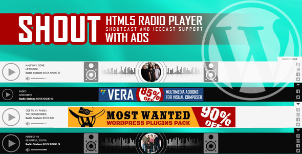 SHOUT v1.2.3 - HTML5 Radio Player With Ads
