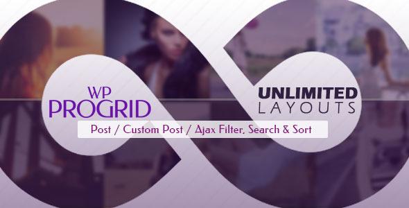 Pro Grid v2.4 - Ajax Post, Custom Post Display + Filter