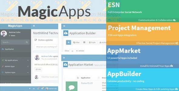 MagicApps - Project Management + ESN + Apps + AppBuilder