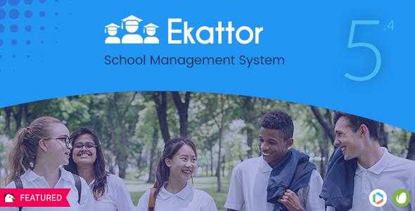 Ekattor School Management System Pro v5.4