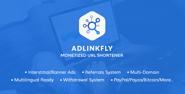 AdLinkFly v6.3.0 – Monetized URL Shortener – nulled