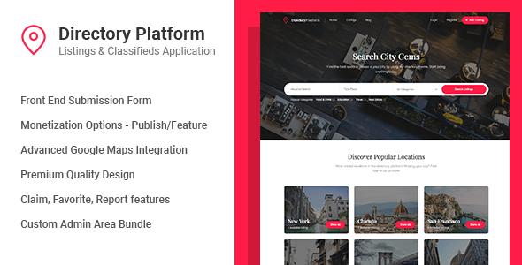 Directory Platform v1.0.8 – Listings & Classifieds