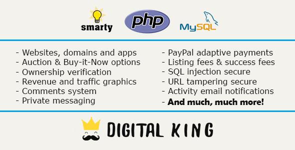 Digital King - Website, domain and app marketplace
