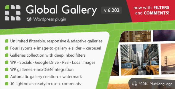 Global Gallery v6.202 - WordPress Responsive Gallery