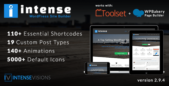 Intense v2.9.4 – Shortcodes and Site Builder for WordPress