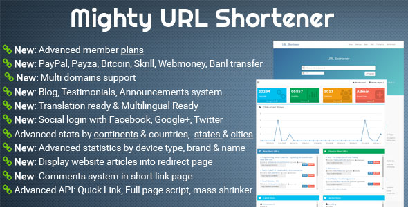 Mighty URL Shortener v3.2.1 – Short URL Script