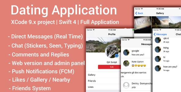 Dating App (iOS App and Website) v1.8 - Swift 4