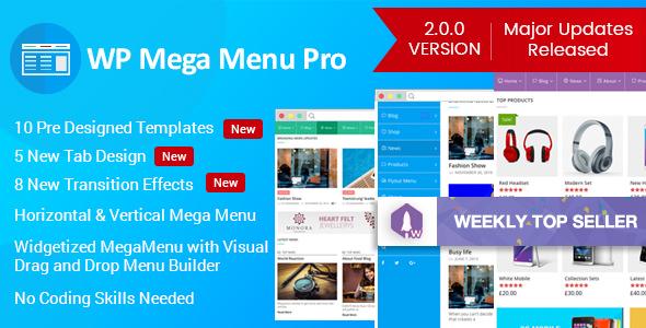 WP Mega Menu Pro v2.0.2 - Responsive Mega Menu Plugin