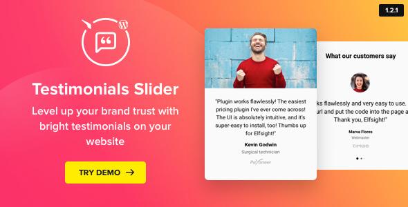 Testimonials Slider v1.2.0 – WordPress Testimonials Plugin