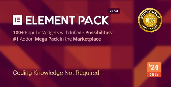 Element Pack v2.5.3 - Addon for Elementor Page Builder