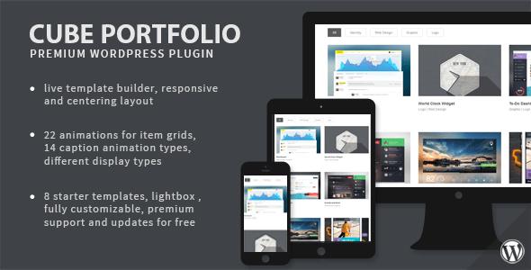Cube Portfolio v1.16.6 – Responsive WordPress Grid Plugin