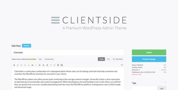 Clientside v1.13.2 – WordPress Admin Theme