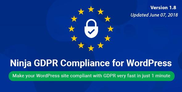 Ninja GDPR Compliance 2018 for WordPress v1.9.1