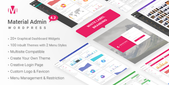 Material v4.2 – White Label WordPress Admin Theme