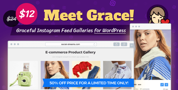 Instagram Feed Gallery – Grace for WordPress v1.1.5