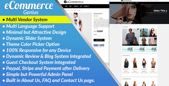 eCommerce Genius v1.1 – Complete Multi Vendor eCommerce Business Management System