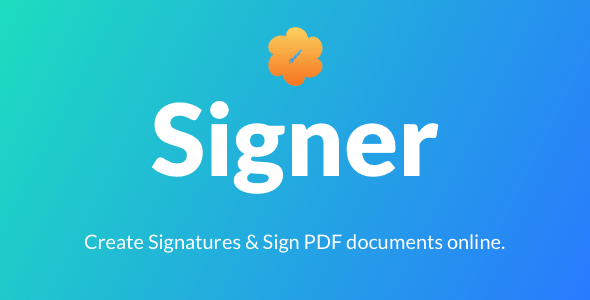 Signer v3.0 - Create Digital signatures and Sign PDF documents online